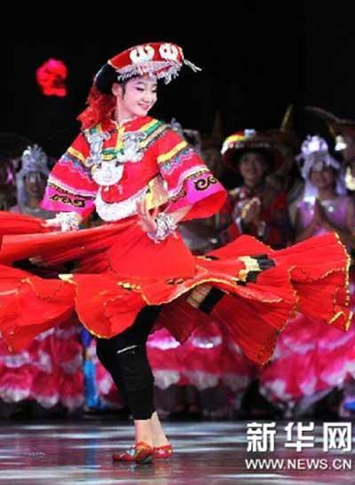 大型彝族音乐舞蹈诗《索玛花开》贵阳上演